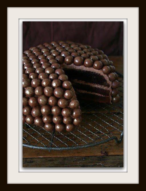 Baño Para Torta Infantil:Decoración de Torta con Bombones de Chocolate