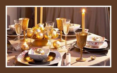 Decoracion sabores de bolivia - Mesa de navidad elegante ...