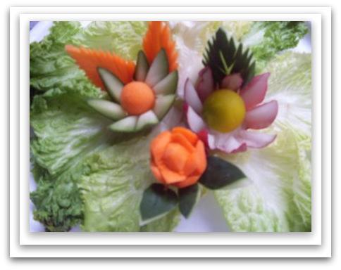 Flores de vegetales sabores de bolivia for Decoracion con verduras