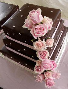 Torta de Chocolate y Rosas