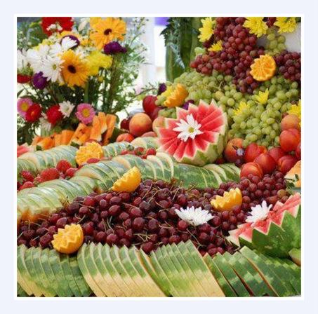 Decoracion de mesa de frutas sabores de bolivia for Como secar frutas para decoracion