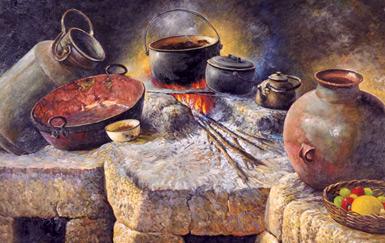 la comida en la colonia: