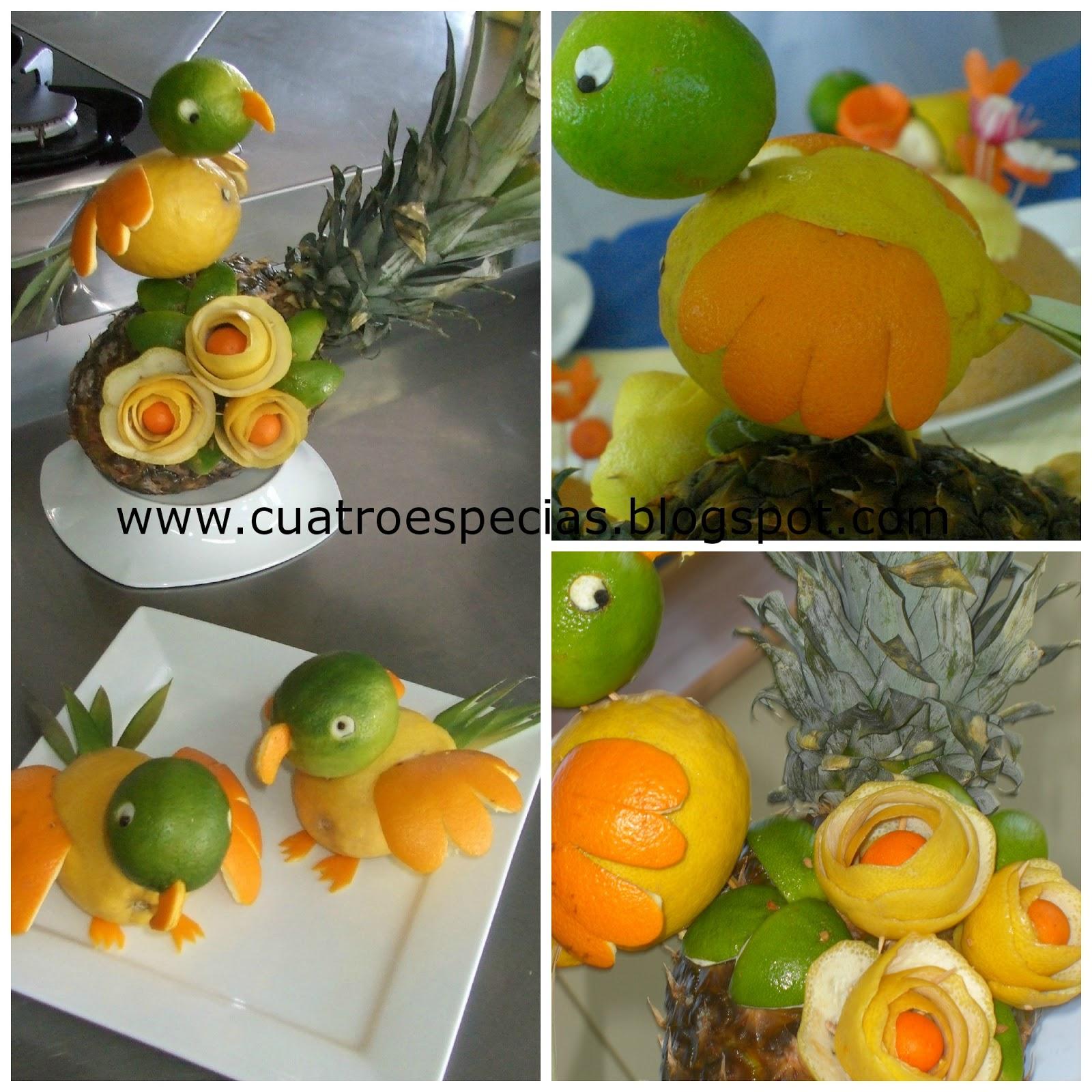 Puntadas deliciosas Decorar con verduras y frutas