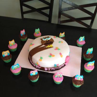 Decoracion de Torta de Gato y Gatitos