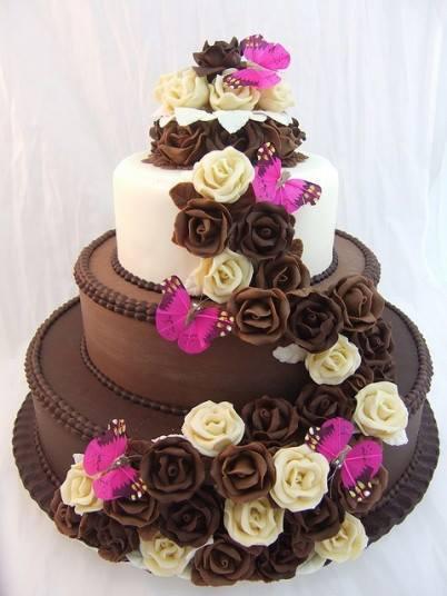 Decoraci n de torta chocolate sabores de bolivia - Decoracion con chocolate ...