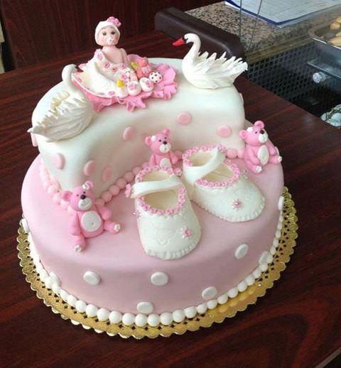 Decoración Torta Bebe