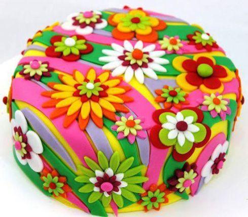 Decoración de Torta Primaveral