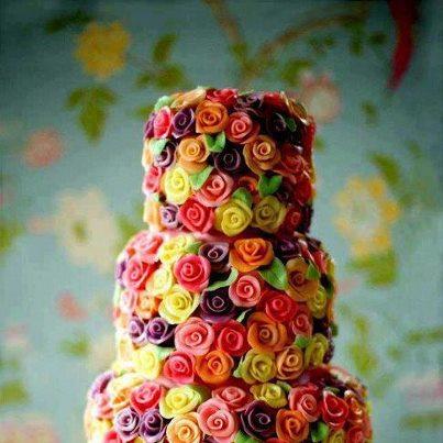 Decoración de Torta de Flores