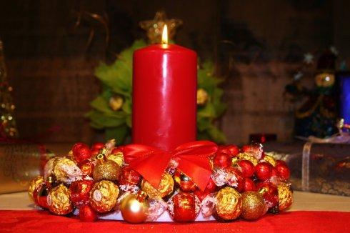 Corona comestible de navidad 11
