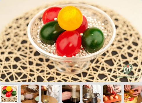 huevos de gelatina de pascua
