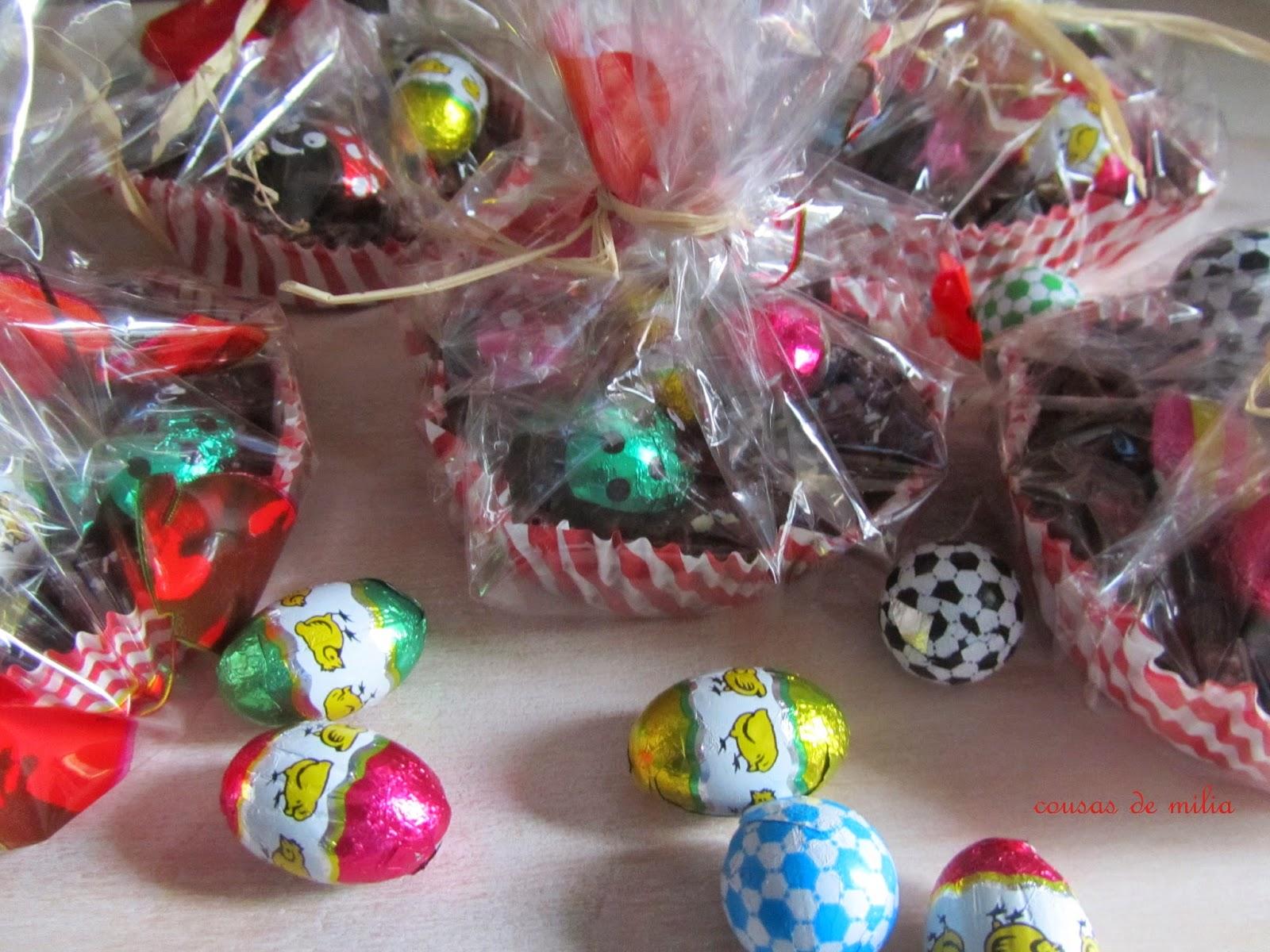Decoracion de nidos de chocolate con huevos de pascua for Decoracion pascua