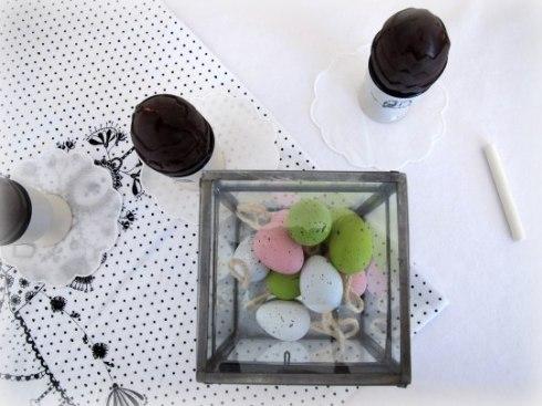 Huevos de chocolate relleno de nubes caseras