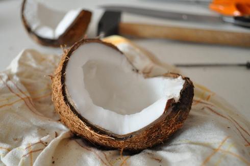 Foto de un coco.