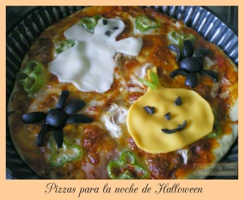 Pizzas para la noche de Halloween